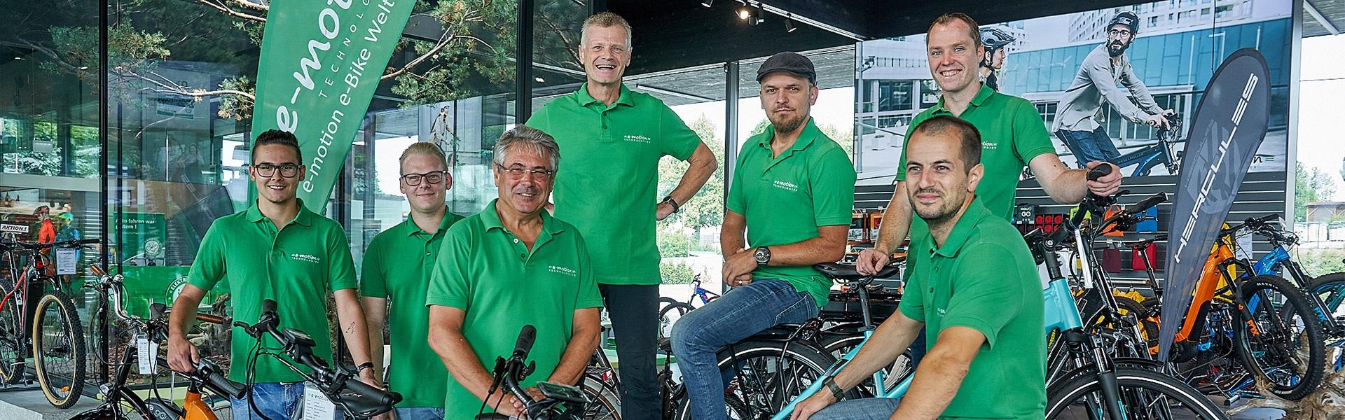 Das Team der e-motion e-Bike Welt Bad Hall