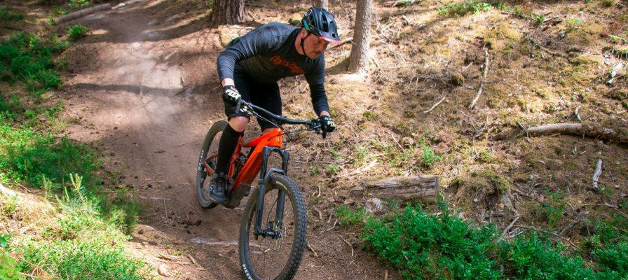 Mountainbike Tour auf dem Giant Reign E 2020 durch den Wald