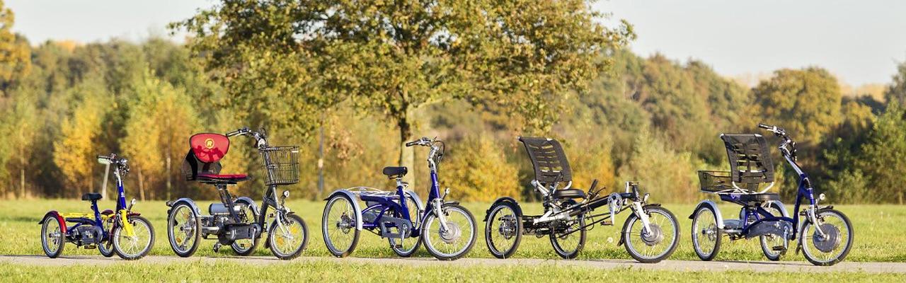 Niklas Gustke und Jörn mit seinem Dreirad