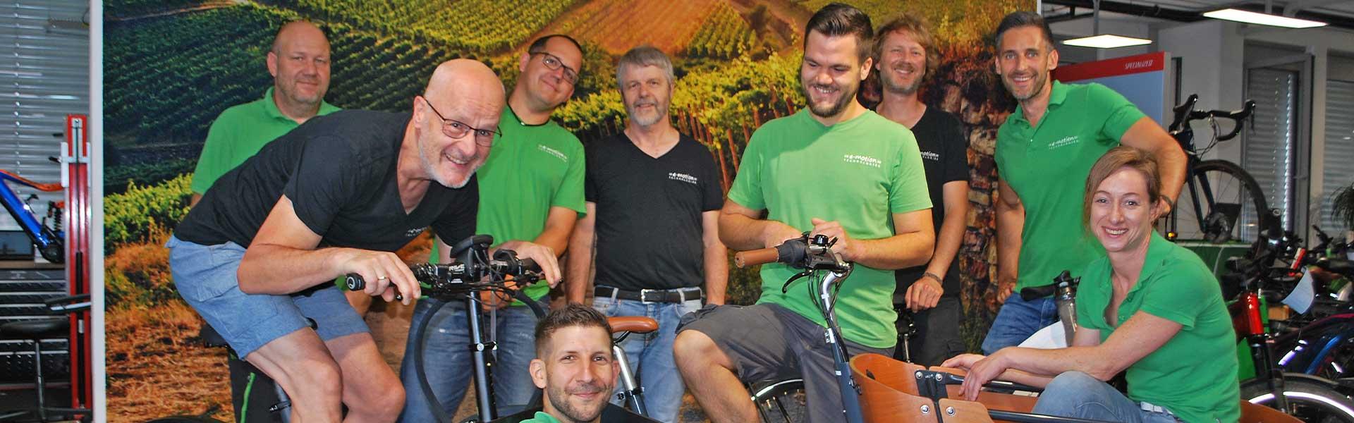 Das Team der e-motion e-Bike Welt Wiesbaden