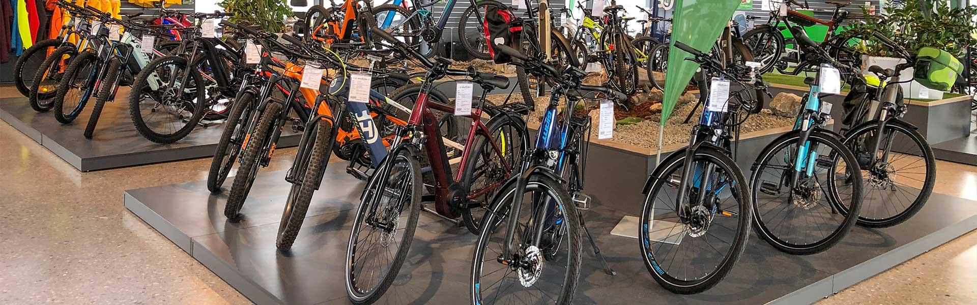 Die große Auswahl an Bikes in der e-motion e-Bike Welt Bad Hall
