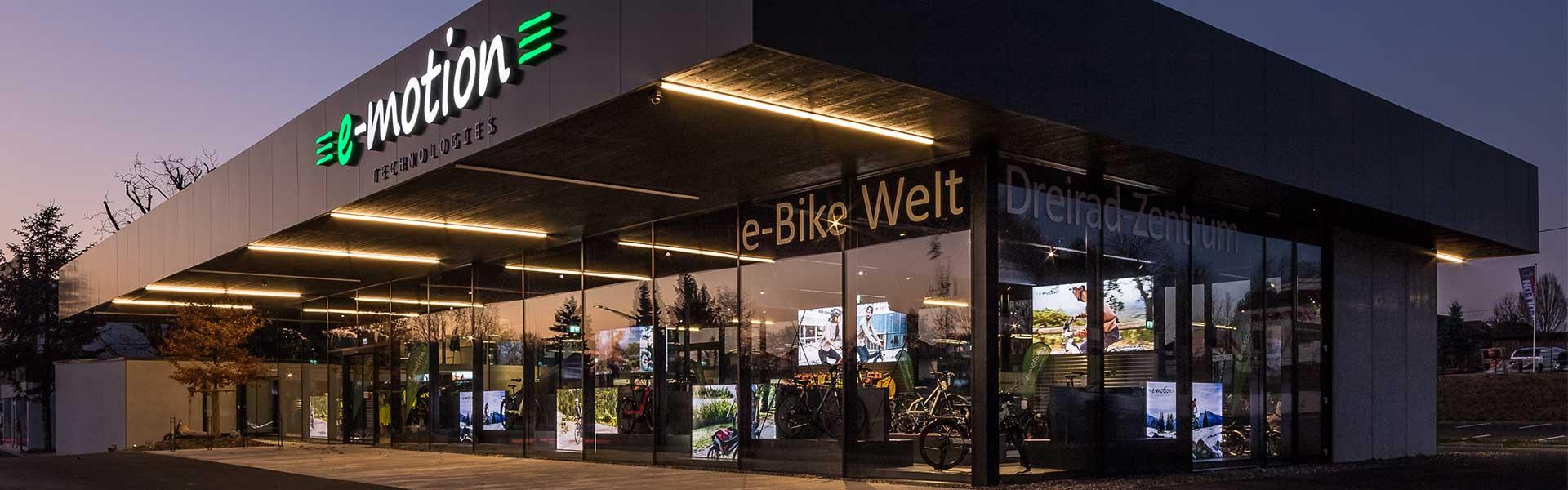 Die Außenansicht der e-motion e-Bike Welt Bad Hall