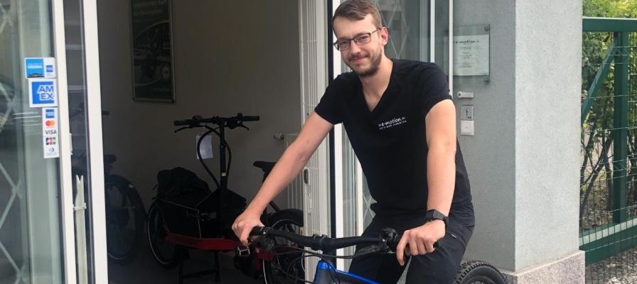 Matthias Fritz ist neu im Werkstatt-Team der e-motion e-bike Welt Wien