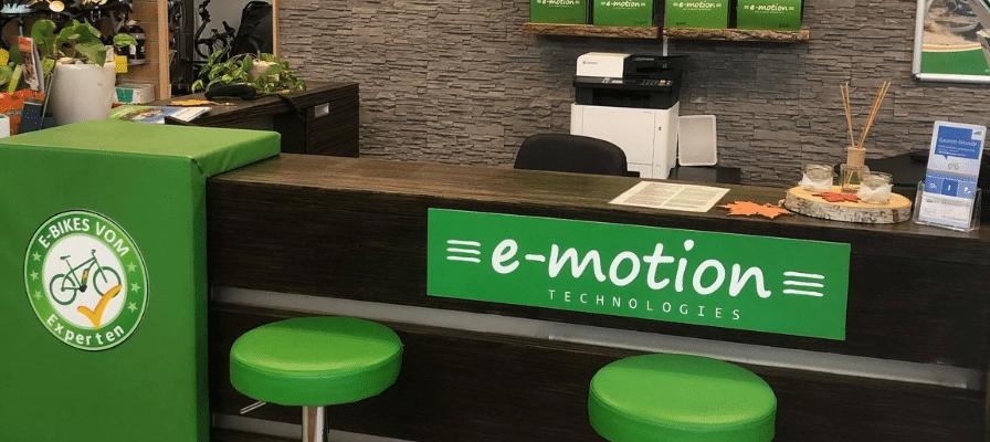 Wartebereich der e-motion e-Bike Welt Wien