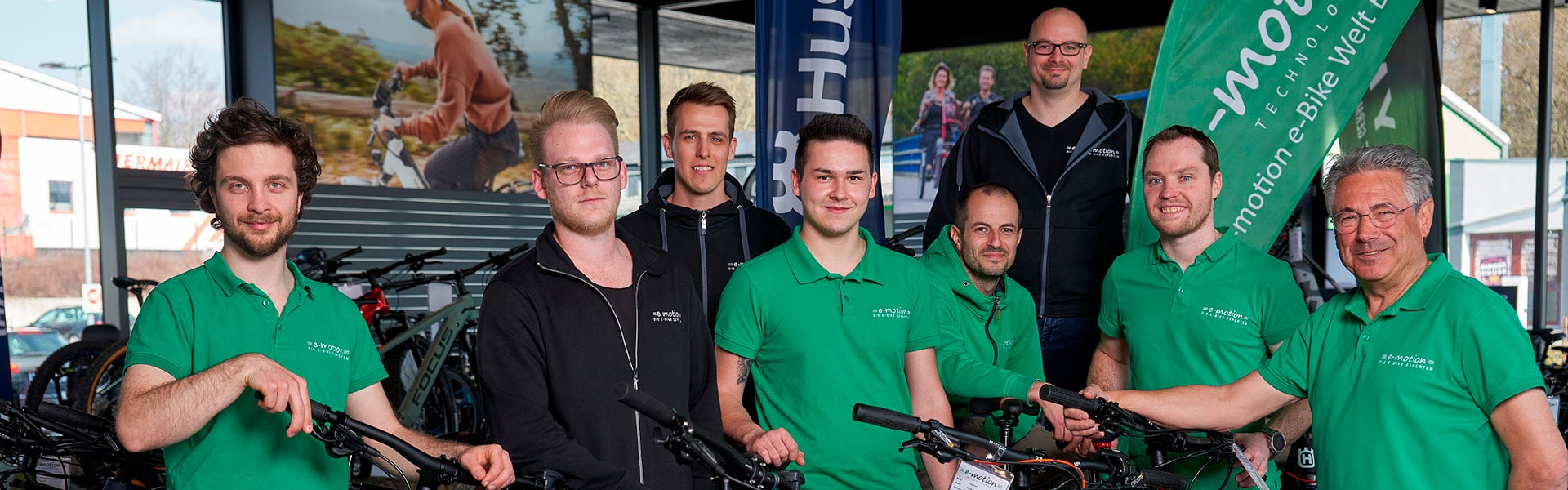 Das Team der e-motion e-Bike Welt Bad Hall